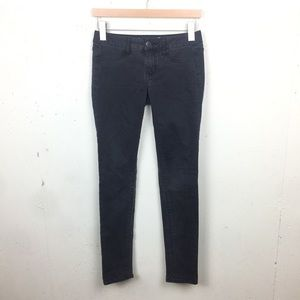 AE Black Faded Jegging Skinny Jeans Low Rise 2